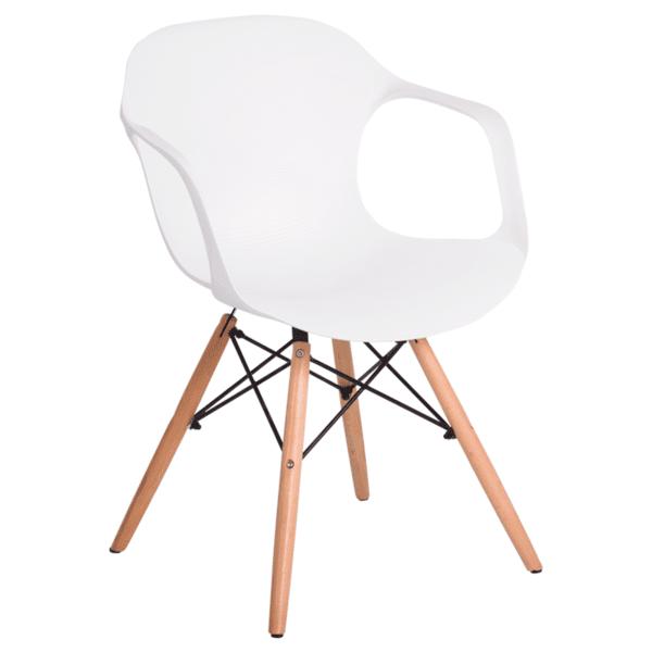 Трапезен стол Carmen 9964 - бял