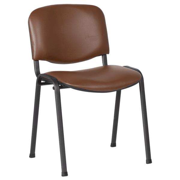 Посетителски стол Carmen 1131 LUX - тъмнокафяв
