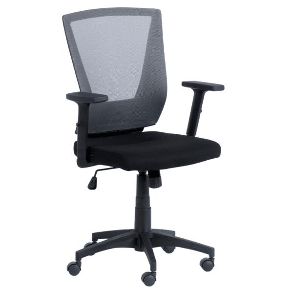 Работен офис стол Carmen 7039 - черен - сив