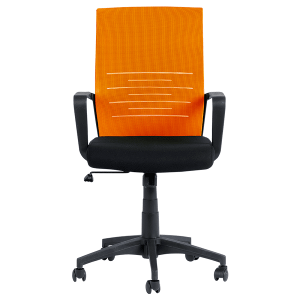 Работен офис стол Carmen 7041- черен - оранжев