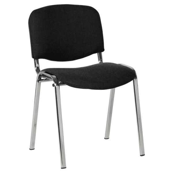 Посетителски стол Carmen 1135 LUX - черен