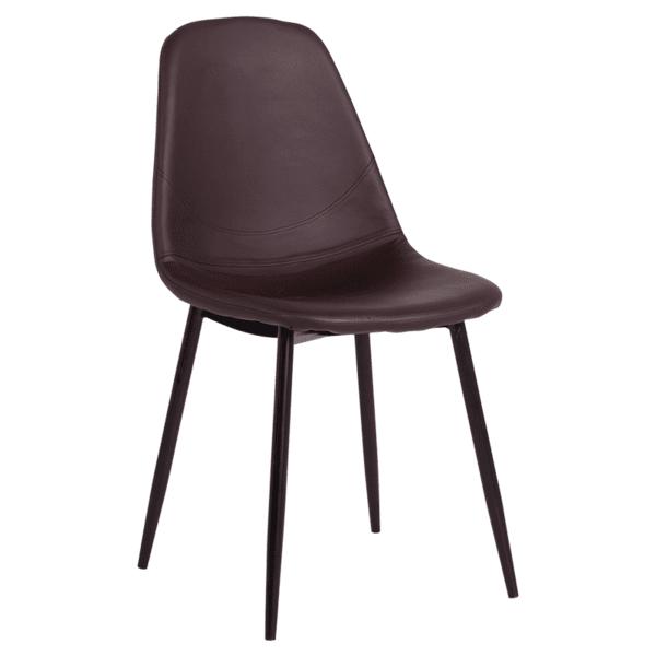 Трапезен стол Carmen 327 - тъмно кафяв