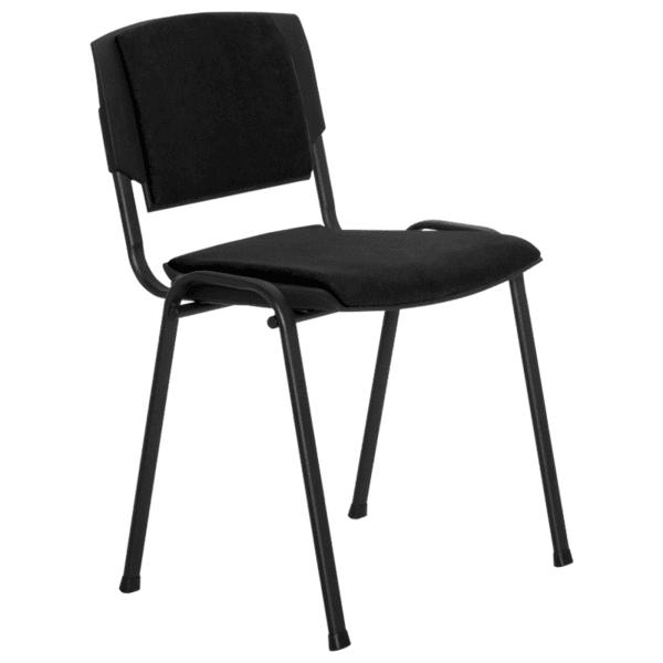 Посетителски стол PRIZMA LUX - черен