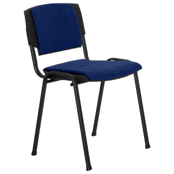 Посетителски стол PRIZMA LUX - тъмно син