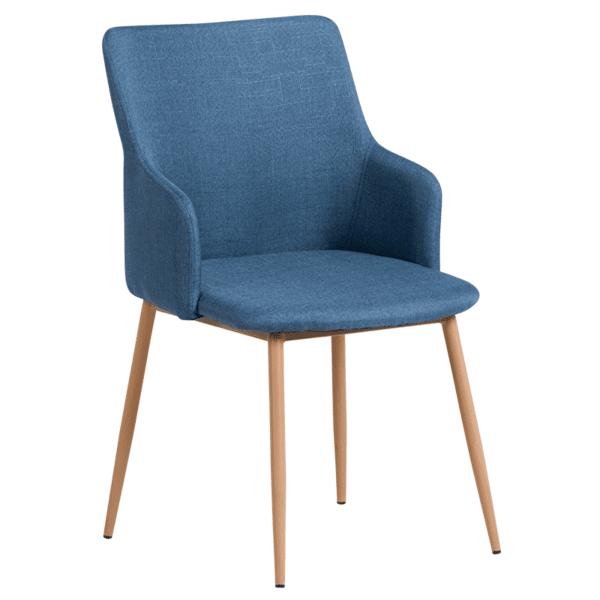 Трапезен стол Carmen 512 - тъмносин 25