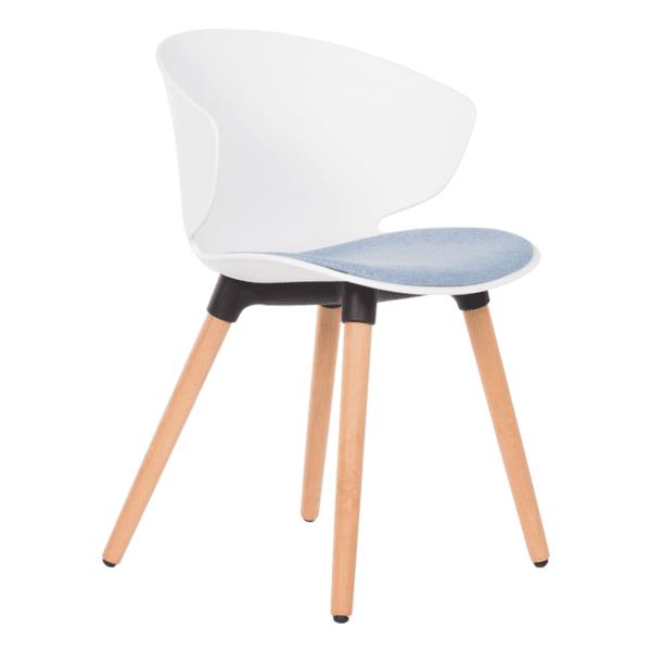 Трапезен стол Carmen 9969 - бял