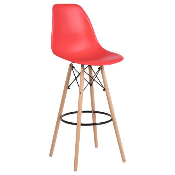 Бар стол Carmen 3079 - червен