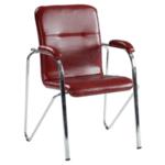 Посетителски стол Samba -  бордо SC