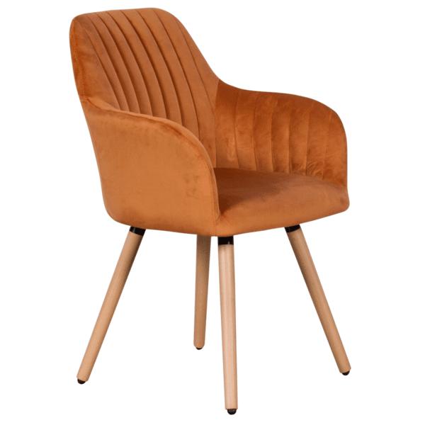 Трапезен стол Carmen 9970 - оранжев