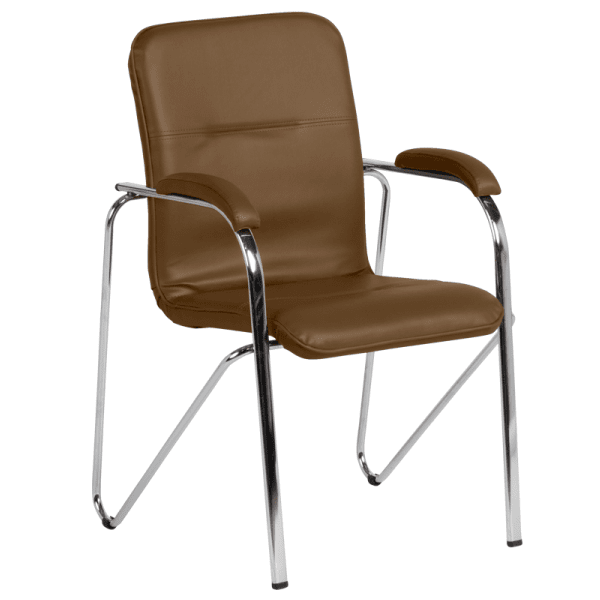 Посетителски стол Samba  - тъмнокафяв SC