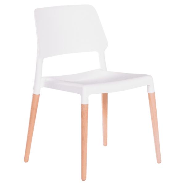 Трапезен стол Carmen 9967 - бял