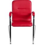 Посетителски стол Samba - червен SC