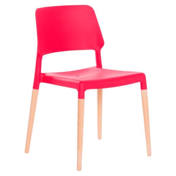 Трапезен стол Carmen 9967 - червен