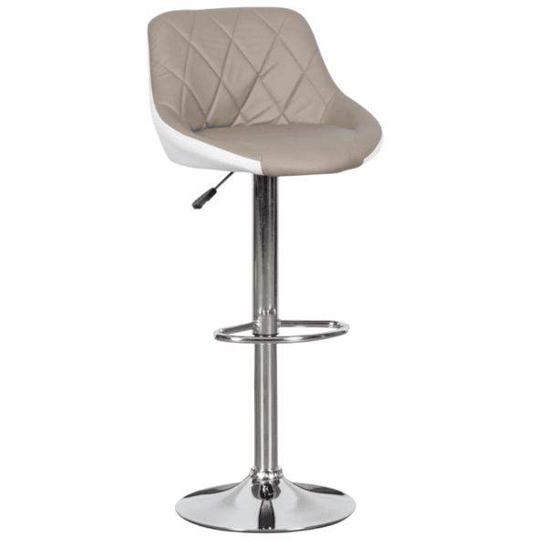 Бар стол Carmen 3080 - бежово - бял