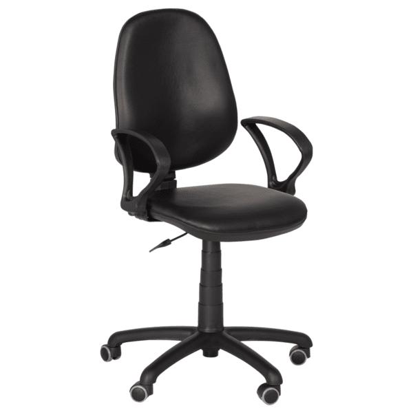 Офис стол Polo (с подлакътници) - черен
