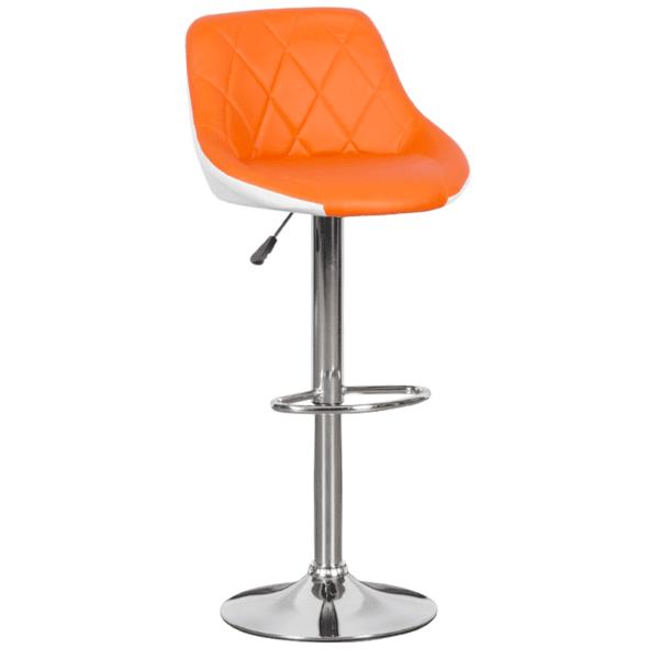 Бар стол Carmen 3080 - оранжево - бял