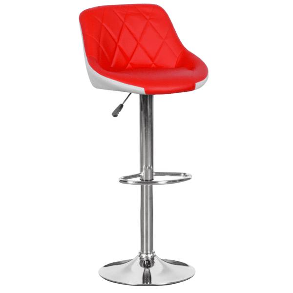 Бар стол Carmen 3080 - червено - бял