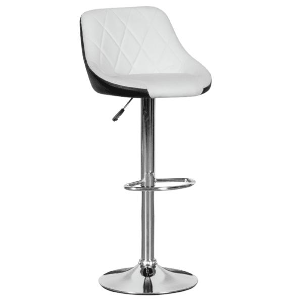 Бар стол Carmen 3080 - бяло - черен
