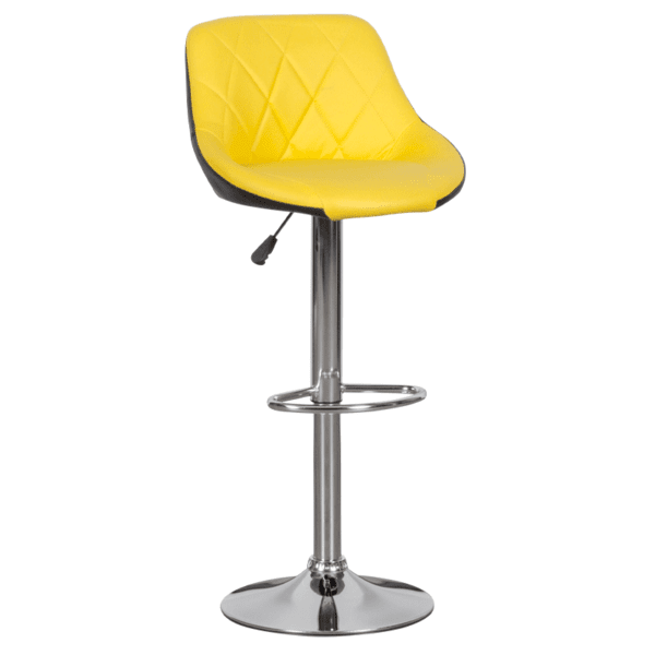 Бар стол Carmen 3080 - жълто - черен