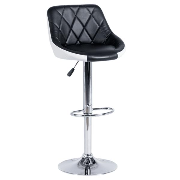 Бар стол Carmen 3080 - черно - бял