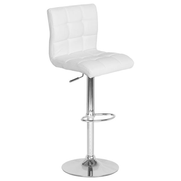Бар стол Carmen 3063 - бял