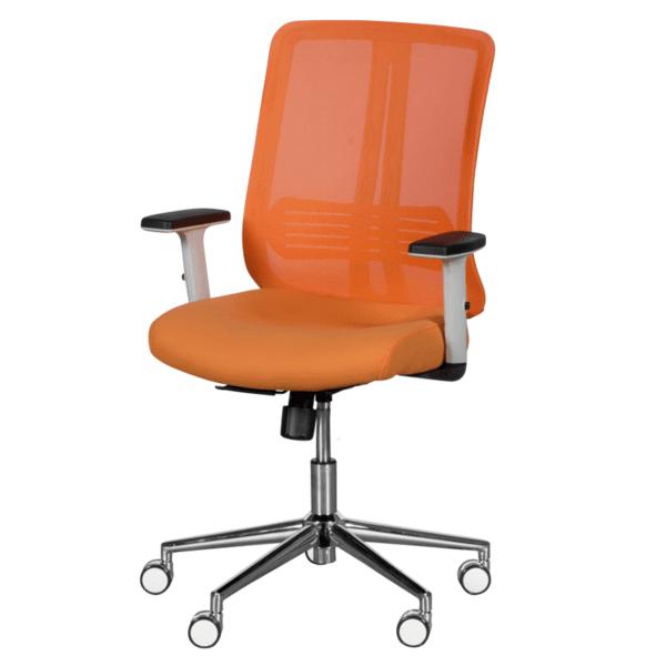 Президентски офис стол LORENA - оранжев