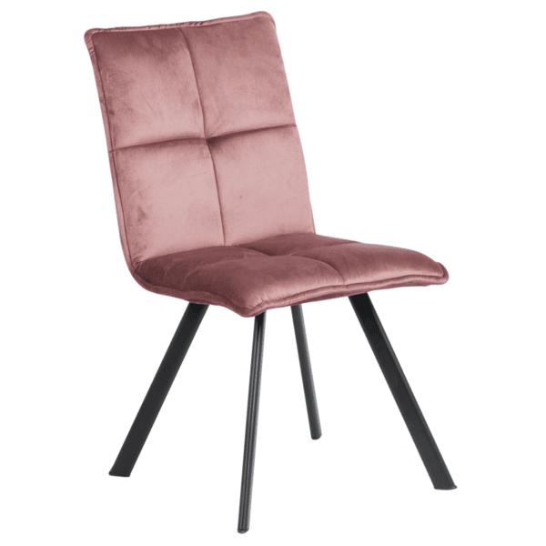 Трапезен стол Carmen 516 - пепелно розов