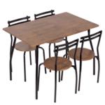 Комплект маса с 4 стола Carmen 20014 - палисандър
