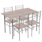 Комплект маса с 4 стола Carmen 20015 - дъб сонома 2