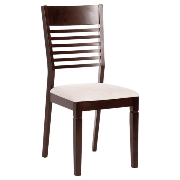 Трапезен стол PAOLA - какао / слонова кост