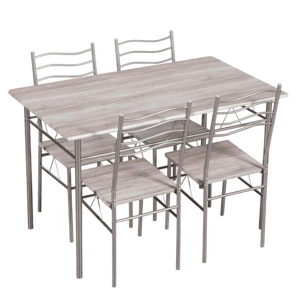 Комплект маса с 4 стола Carmen 20015 - дъб сонома 3