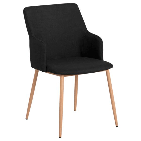 Трапезен стол Carmen 512 - черен