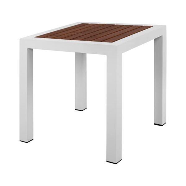 Бяла алуминиева маса с Полиууд