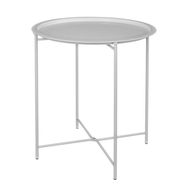 Метална сгъваема маса в бял цвят