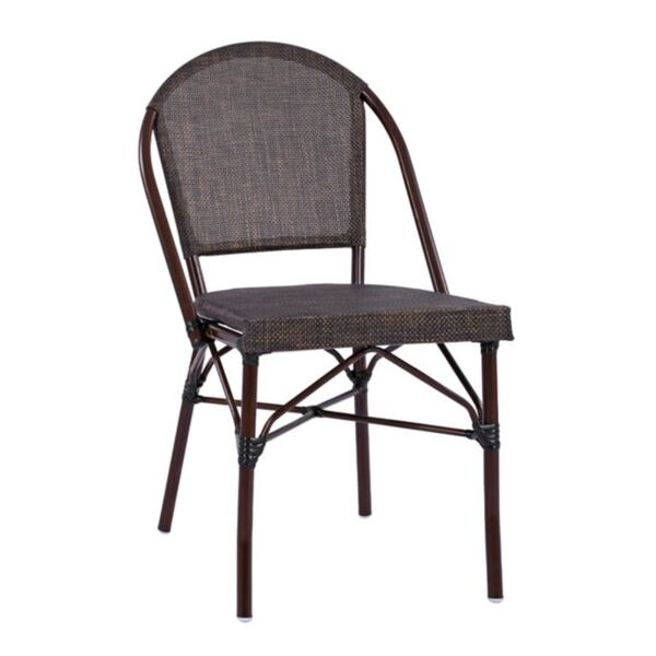 Метален стол Bamboo в кафяв цвят