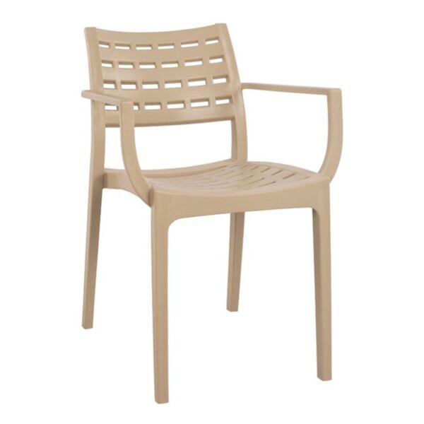 Полипропиленово Кресло в бежов цвят