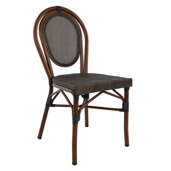 Алуминиев стол Bamboo с кафяв текстил