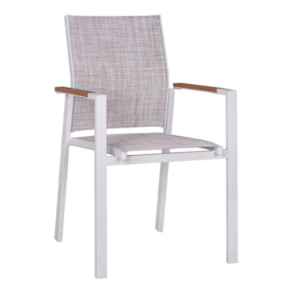 Алуминиево бяло кресло с текстил Полиууд