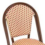 Алуминиев стол Bamboo с бежов ратан