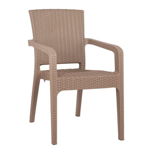 Кресло от полипропилен Капучино цвят