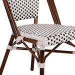Алуминиев стол Bamboo Бял - Черен ратан