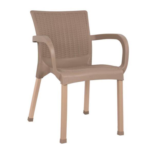 Кресло от полипропиленова основа Капучино