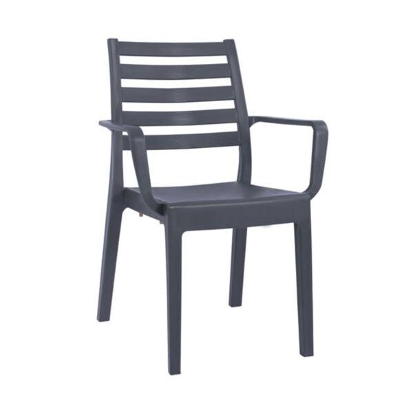 Стол за градина в сив цвят
