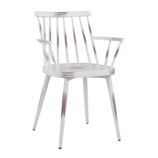 Бял алуминиев стол Ивон