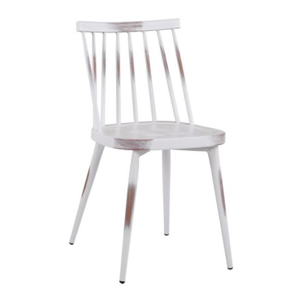 Бял алуминиев стол Ванеса