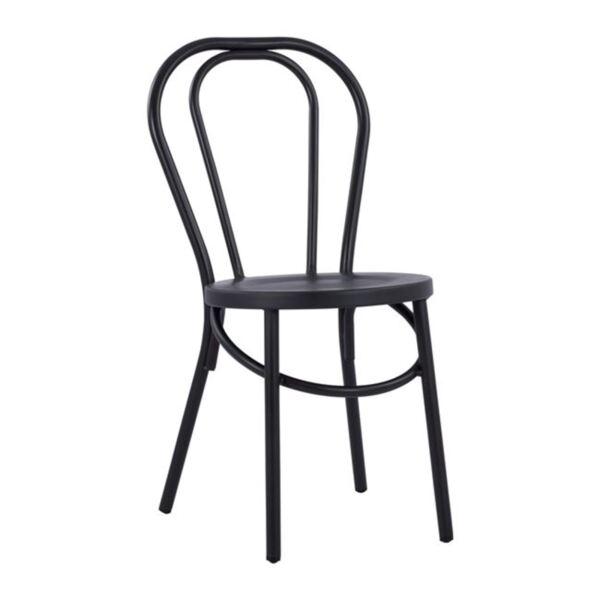 Черен алуминиев стол Виена