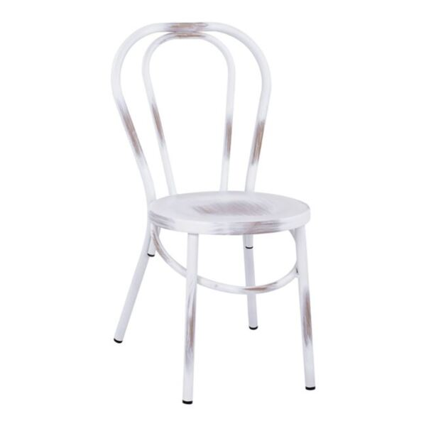 Бял алуминиев стол Виена