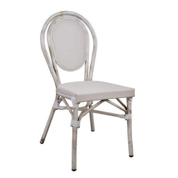 Алуминиев стол Bamboo с бял текстил