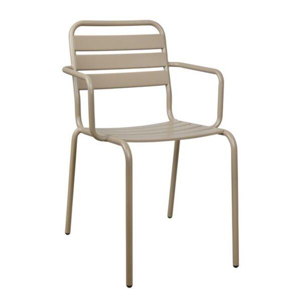Метално кресло цвят крем