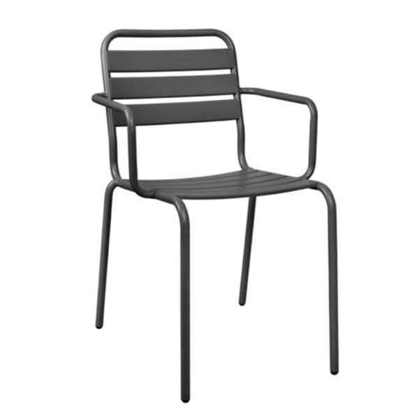 Метално кресло в сив цвят